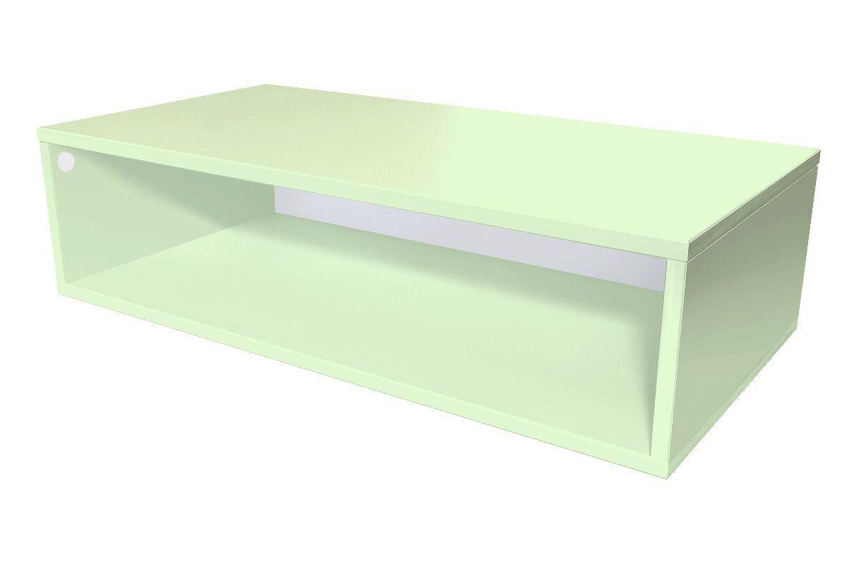 Abc meubles - cube de rangement 100x50 cm bois vert pastel