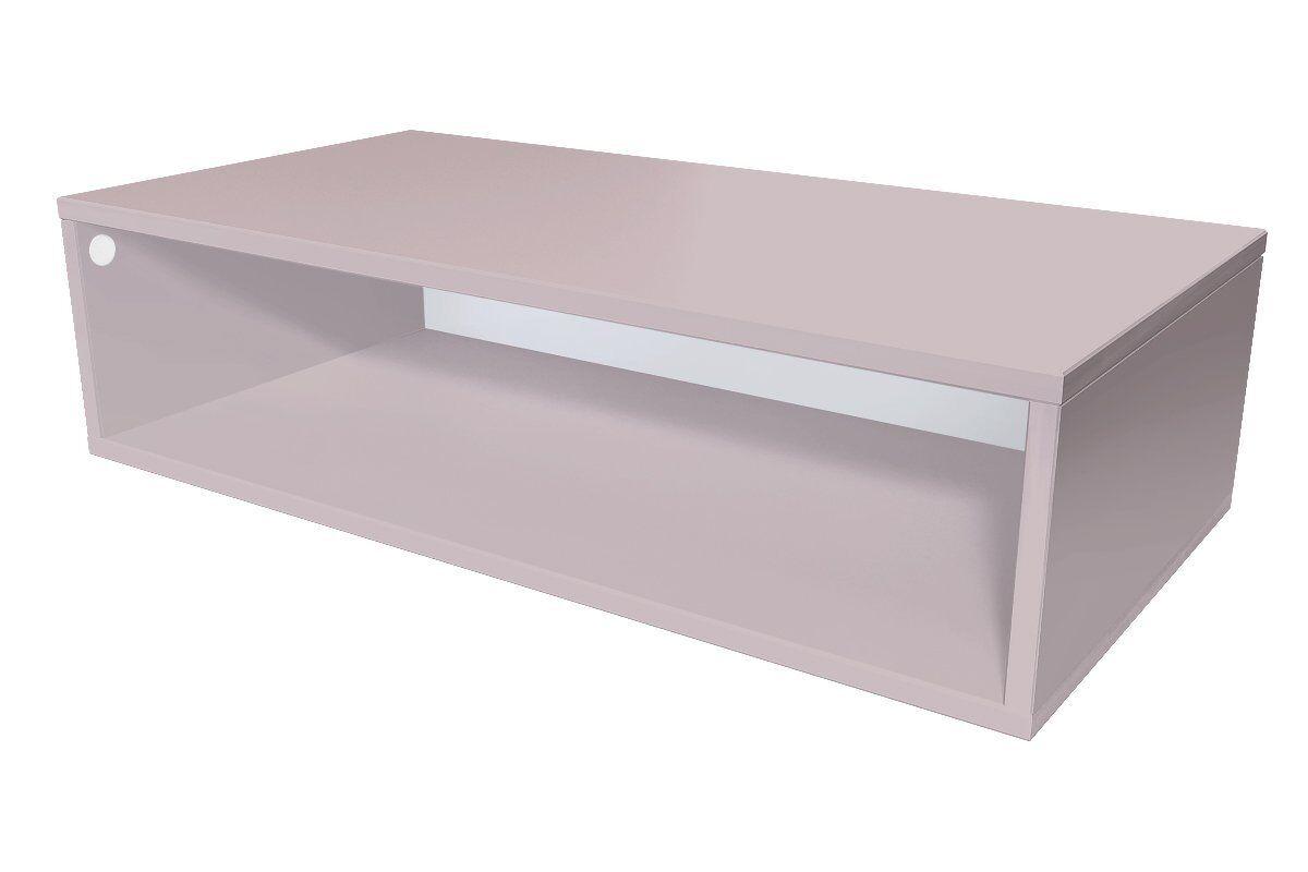 Abc meubles - cube de rangement 100x50 cm bois violet pastel