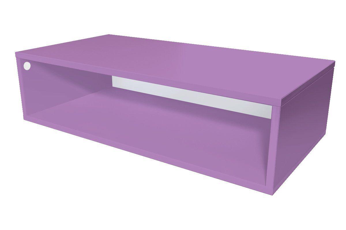 Abc meubles - cube de rangement 100x50 cm bois lilas