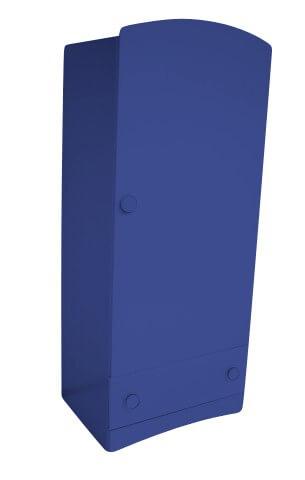 ABC MEUBLES Armoire enfant 1 porte + 1 tiroir Isla - / - Bleu foncé