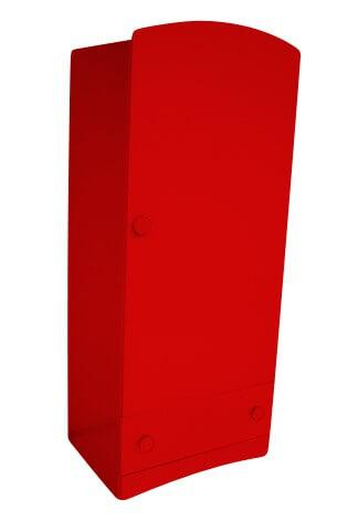 ABC MEUBLES Armoire enfant 1 porte + 1 tiroir Isla - / - Rouge