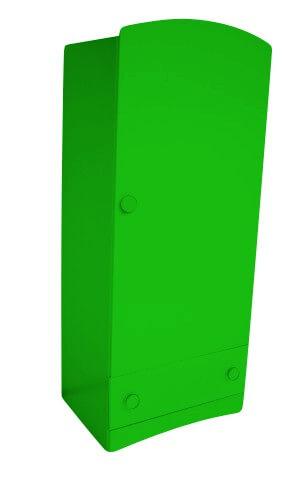ABC MEUBLES Armoire enfant 1 porte + 1 tiroir Isla - / - Vert