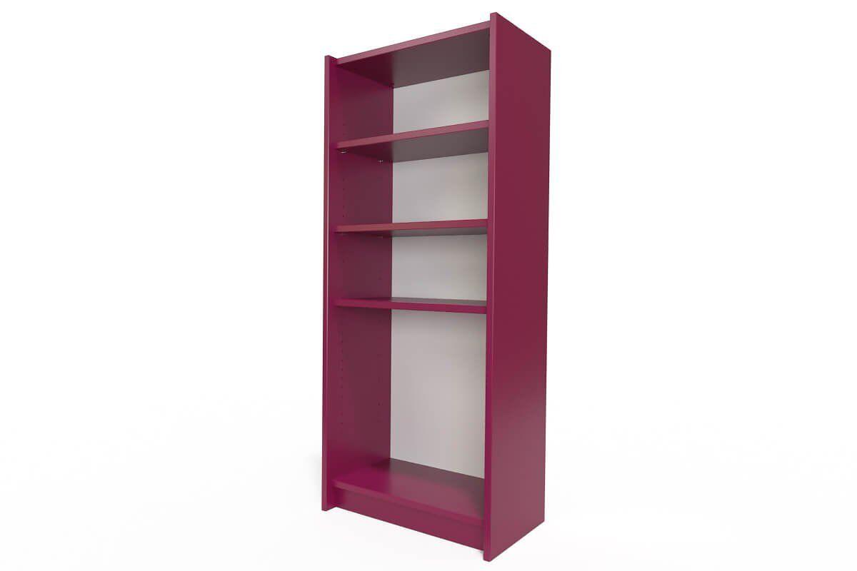 Abc meubles - étagère bibliothèque bois prune