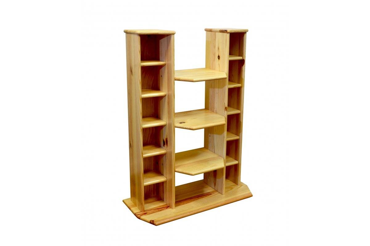 Abc meubles - meuble hifi/vidéo bois vernis naturel