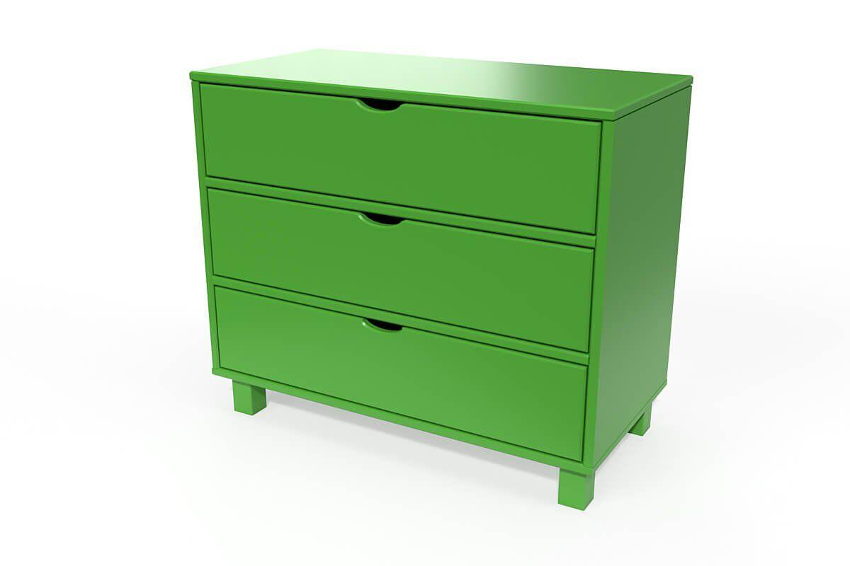 ABC MEUBLES Commode cube 3 tiroirs - / - Vert