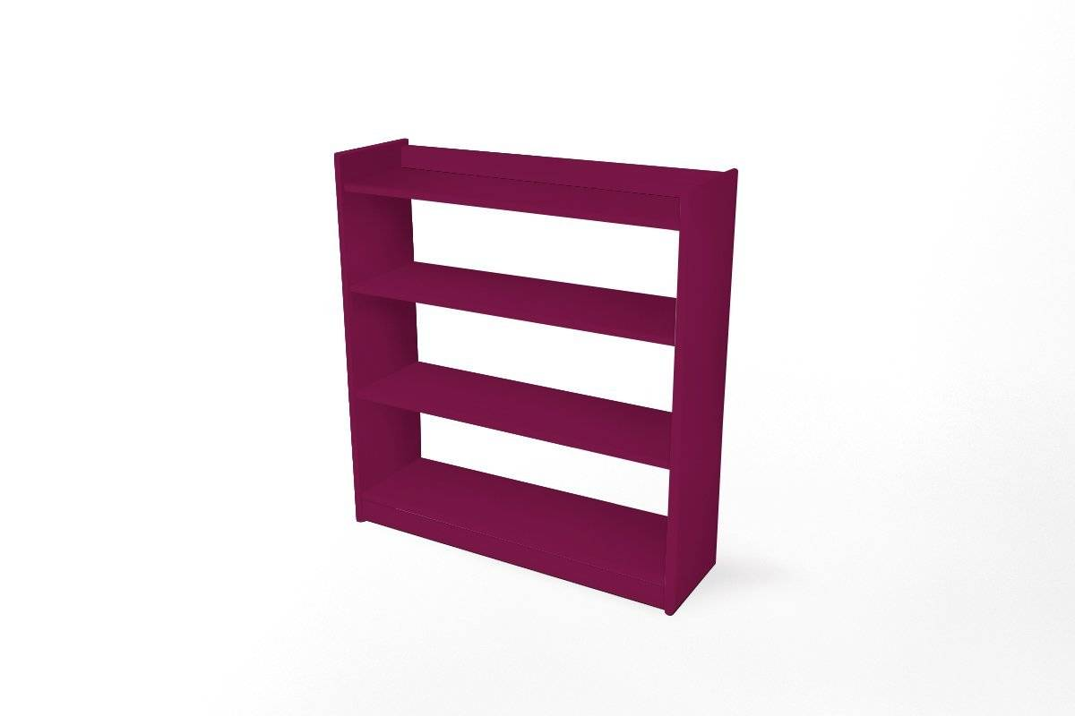 Abc meubles - etagère 92 x 99 omega 4 tablettes prune