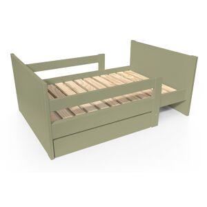 Abc meubles - lit évolutif enfant avec tiroir bois taupe 90 x (140/170/200) - Publicité
