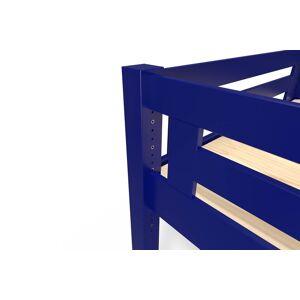 ABC MEUBLES Lit Mezzanine Alpage bois + échelle hauteur réglable - 160x200 - Bleu foncé - Publicité