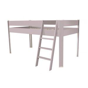 Abc meubles - lit compact surélevé enfant violet pastel 90x190 - Publicité