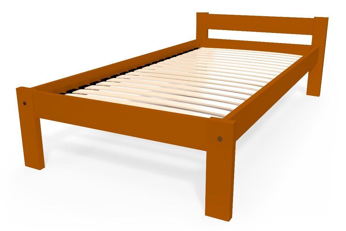 Abc meubles - lit enfant simply en hêtre chocolat 90x190