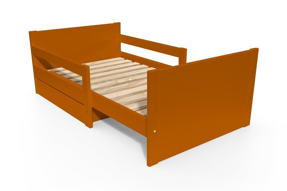 Abc meubles - lit évolutif enfant avec tiroir bois chocolat 90 x (140/170/200)
