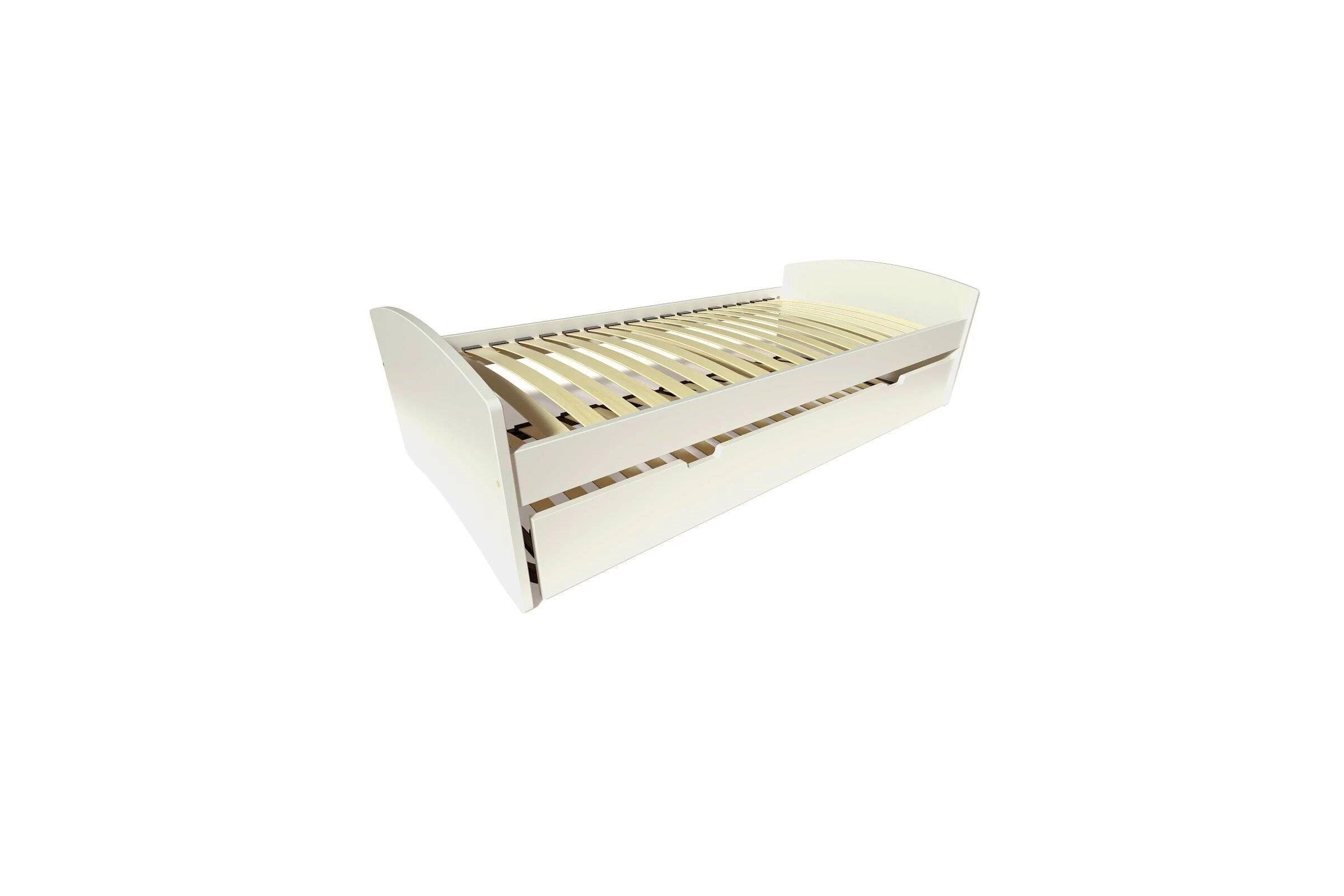 Abc meubles - lit gigogne happy pin massif ivoire 80x190