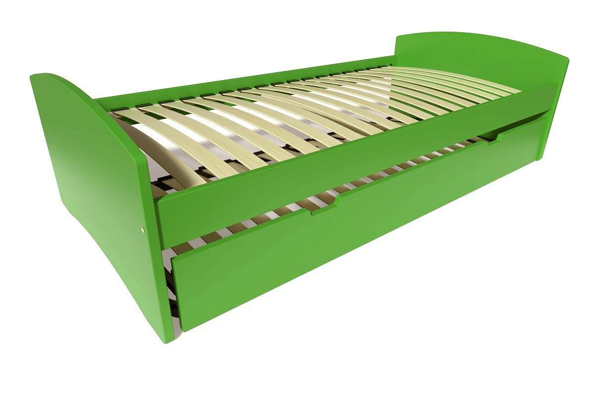 Abc meubles - lit gigogne happy pin massif vert 90x190