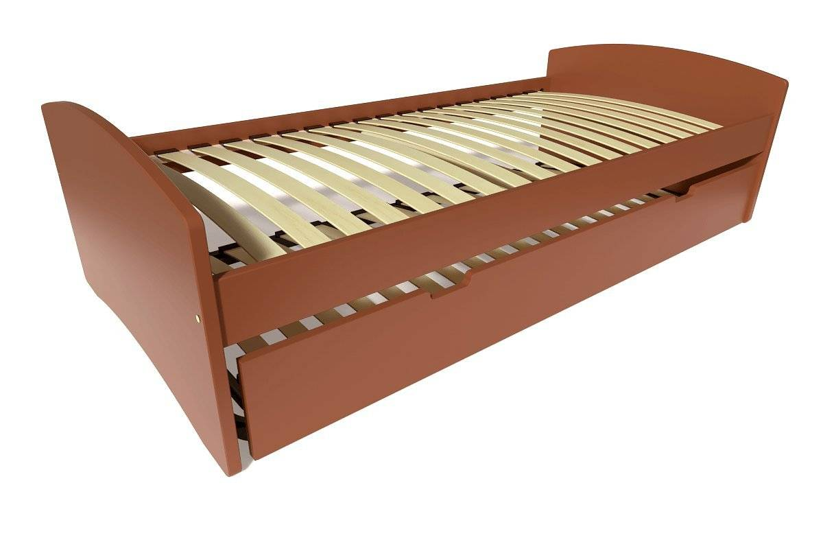 Abc meubles - lit gigogne happy pin massif chocolat 90x190