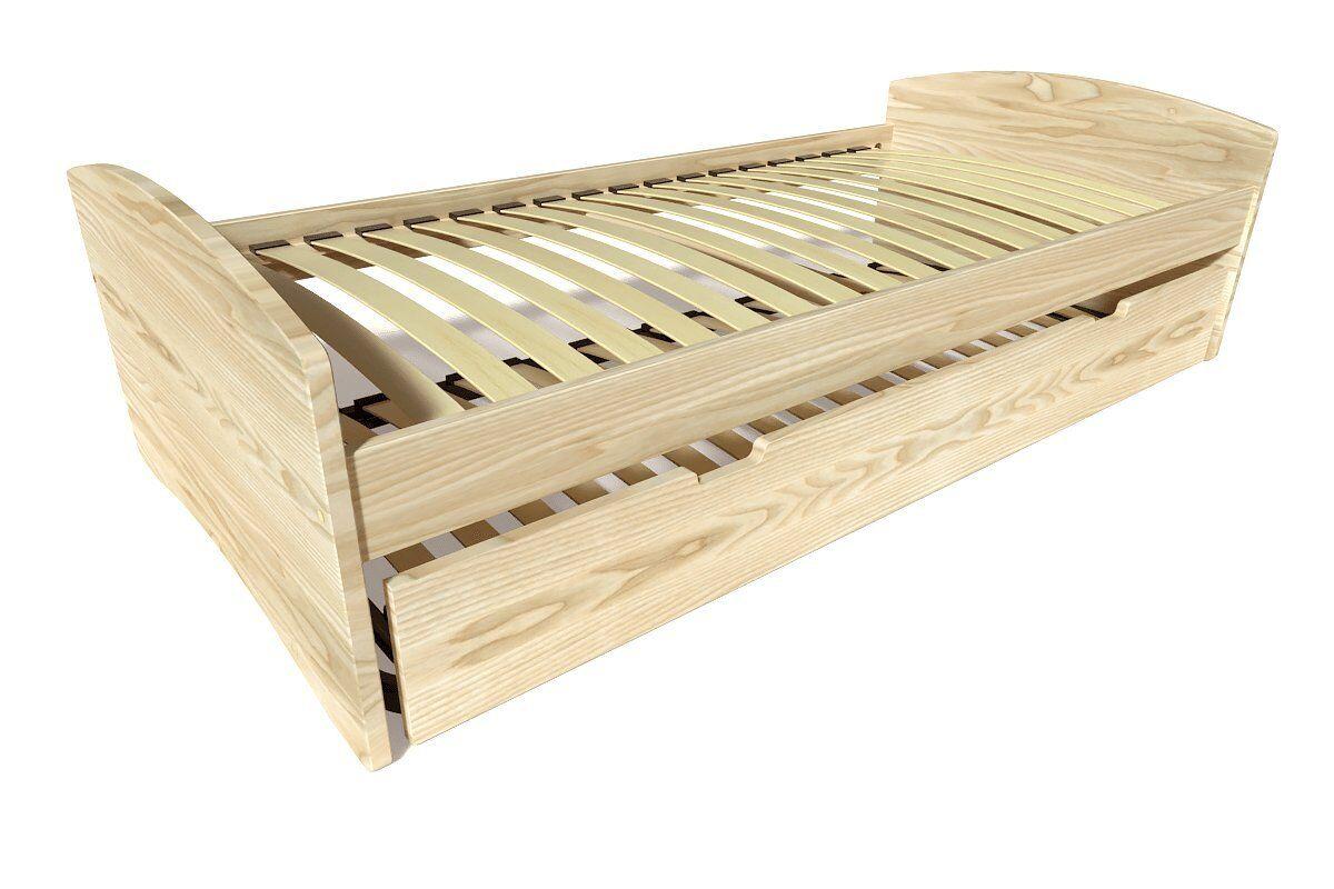Abc meubles - lit gigogne happy pin massif brut 80x190