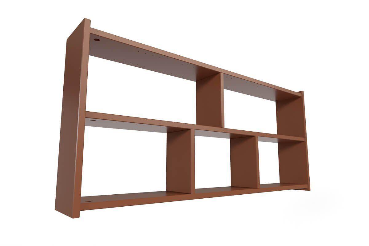 Abc meubles - étagère murale chocolat largeur 90