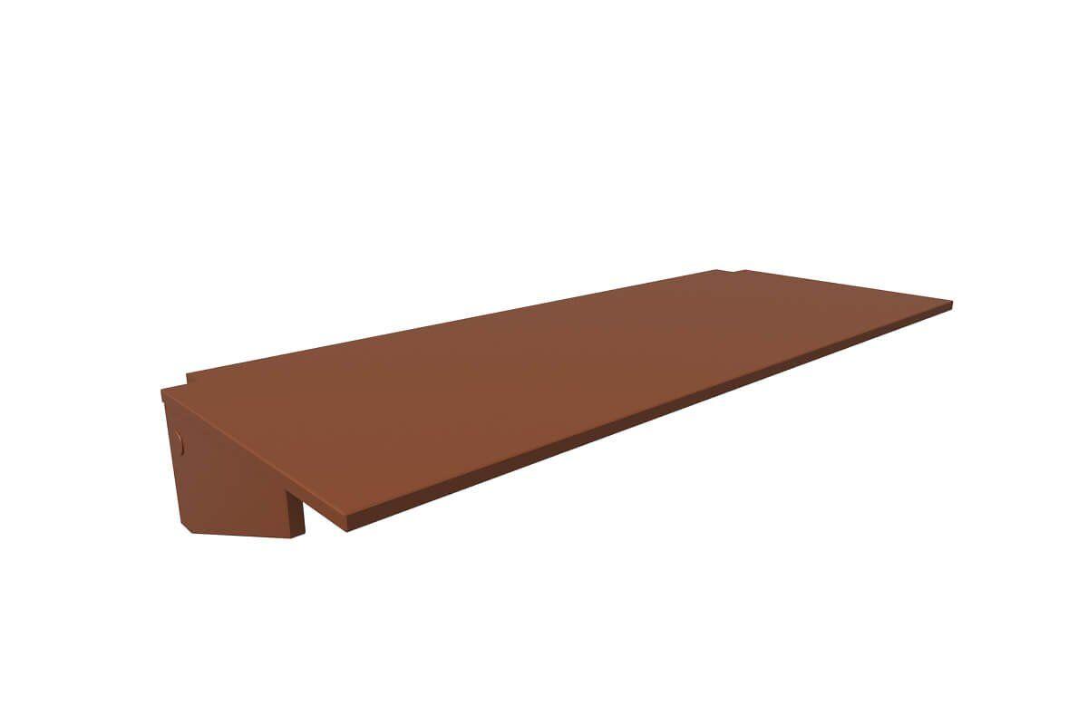 ABC MEUBLES Bureau tablette - Largeur 140 - Chocolat