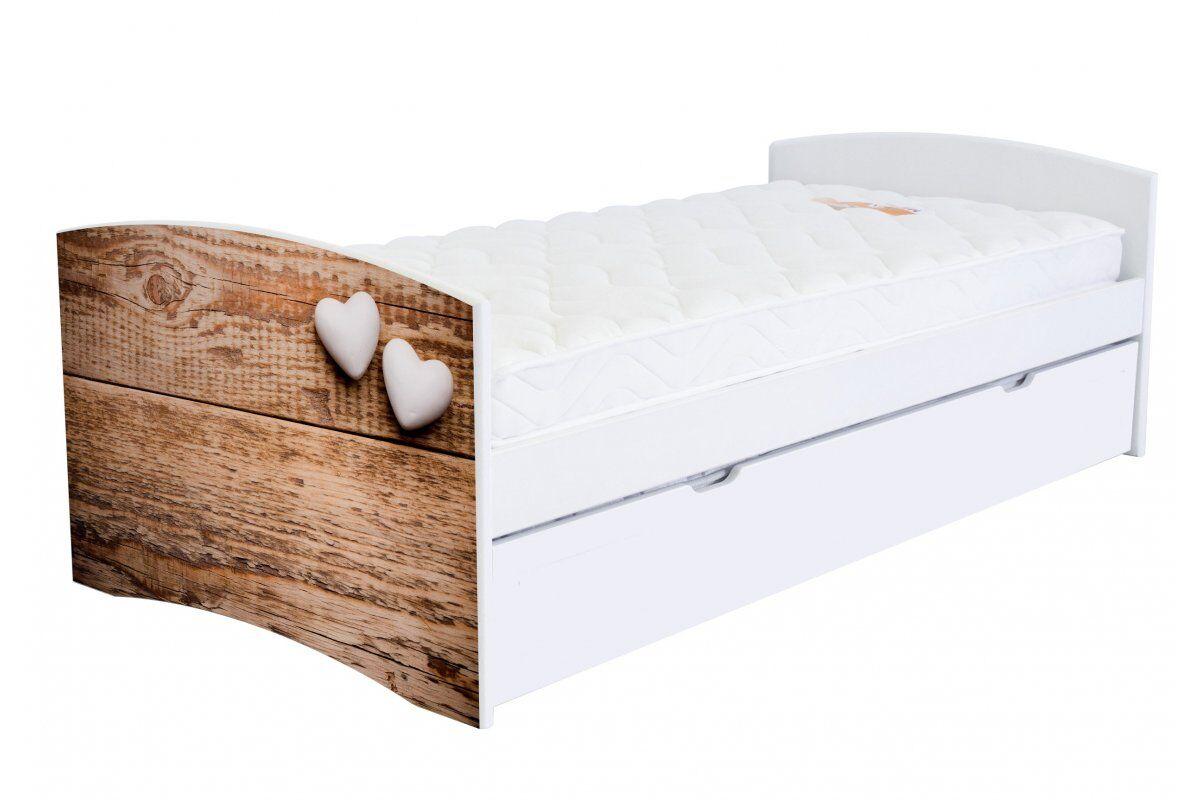 Abc meubles - lit banquette gigogne happy 90 x 190cm 90x190 bois coeur