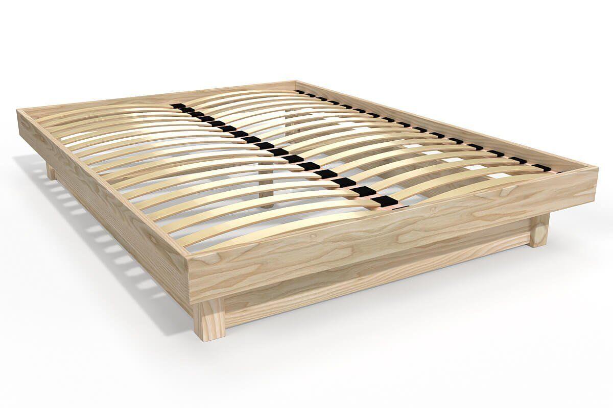 Abc meubles - lit plateforme bois massif pas cher brut 140x200
