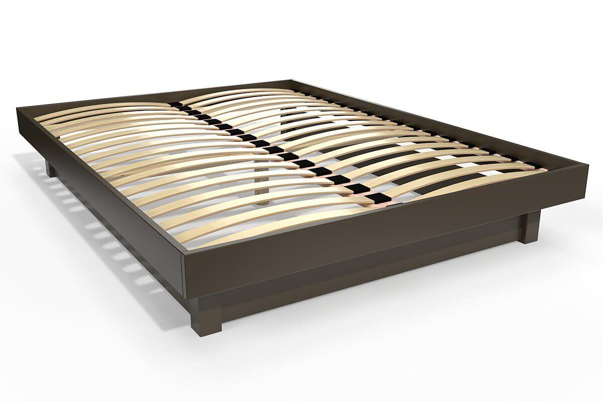 Abc meubles - lit plateforme bois massif pas cher wengé 160x200