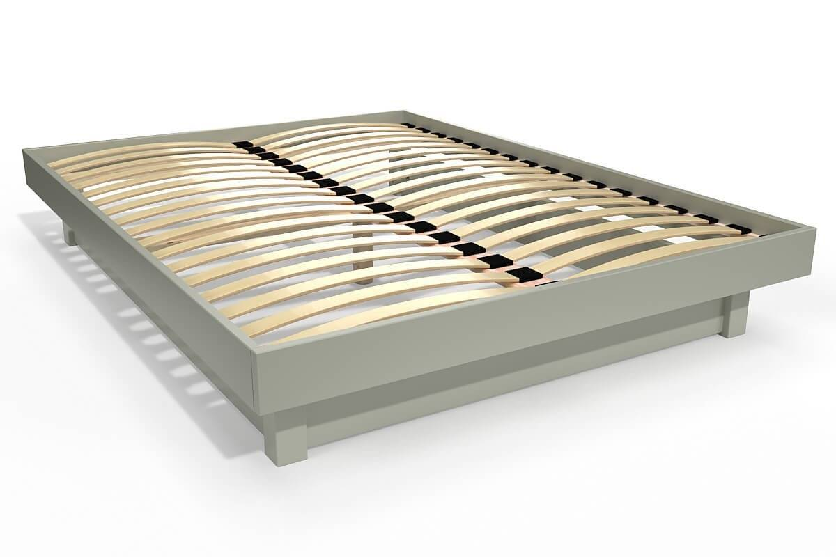 Abc meubles - lit plateforme bois massif pas cher moka 140x200