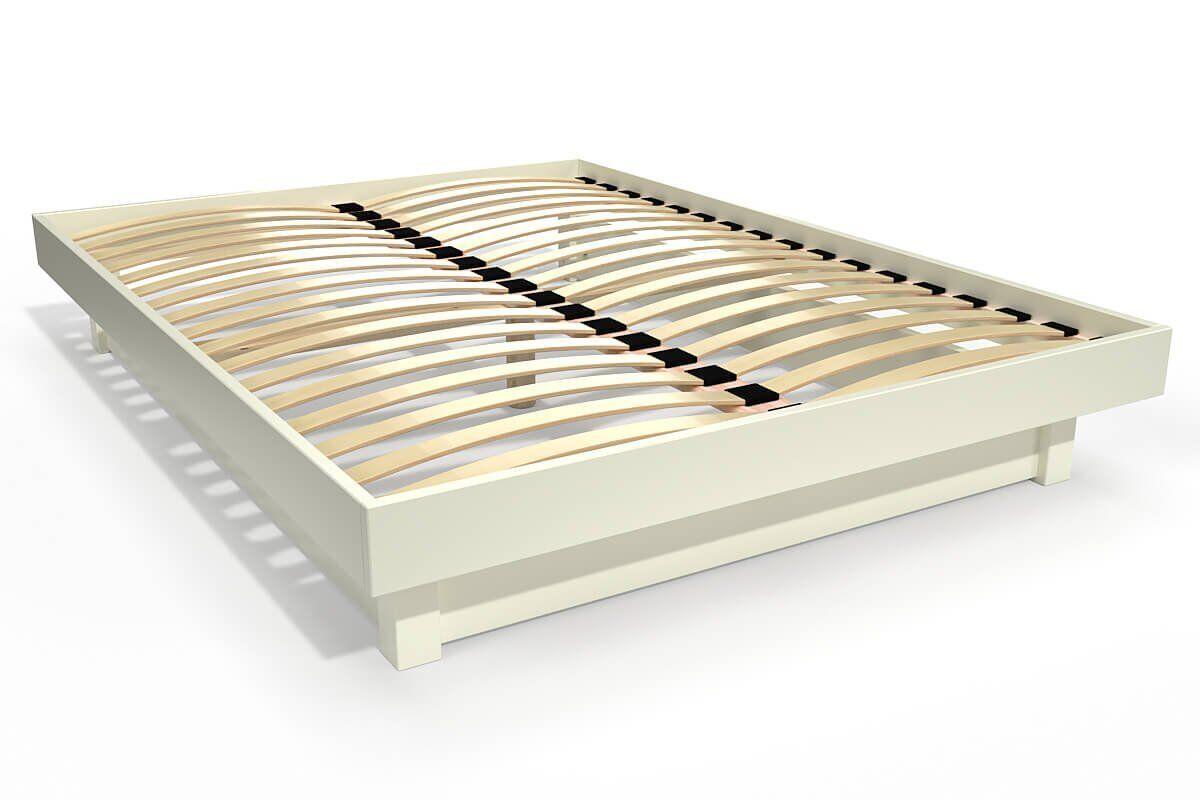 Abc meubles - lit plateforme bois massif pas cher ivoire 160x200
