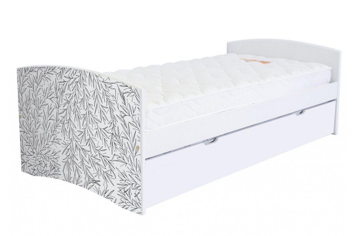 Abc meubles - lit banquette gigogne happy 90 x 190cm vernis naturel/décor tiges 90x190