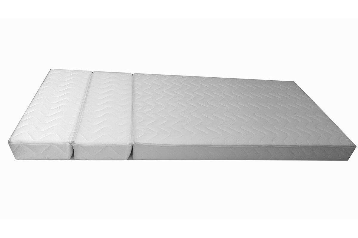 Abc meubles - matelas mousse pour lit évolutif en trois parties - 12 cm