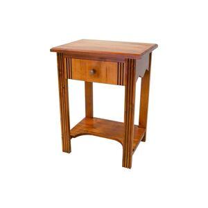 Abc meubles - table basse bois + 1 tiroir merisier - Publicité