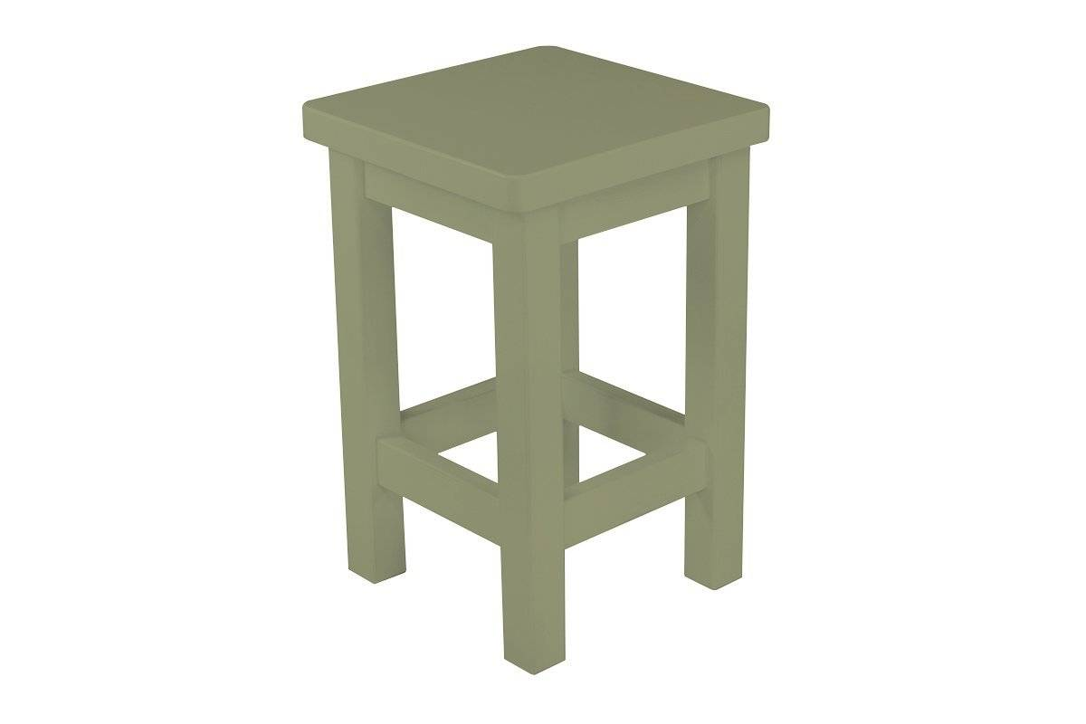 Abc meubles - tabouret droit bois made in france taupe