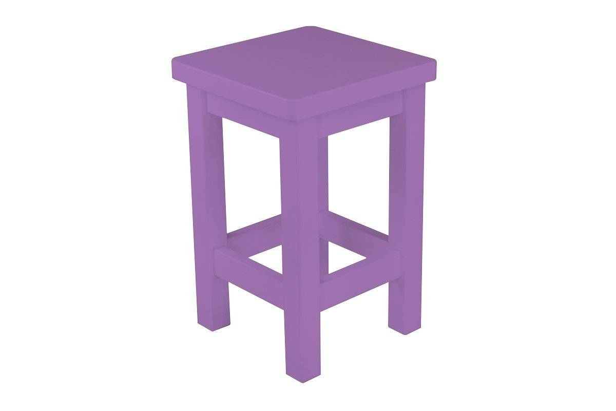 Abc meubles - tabouret droit bois made in france lilas