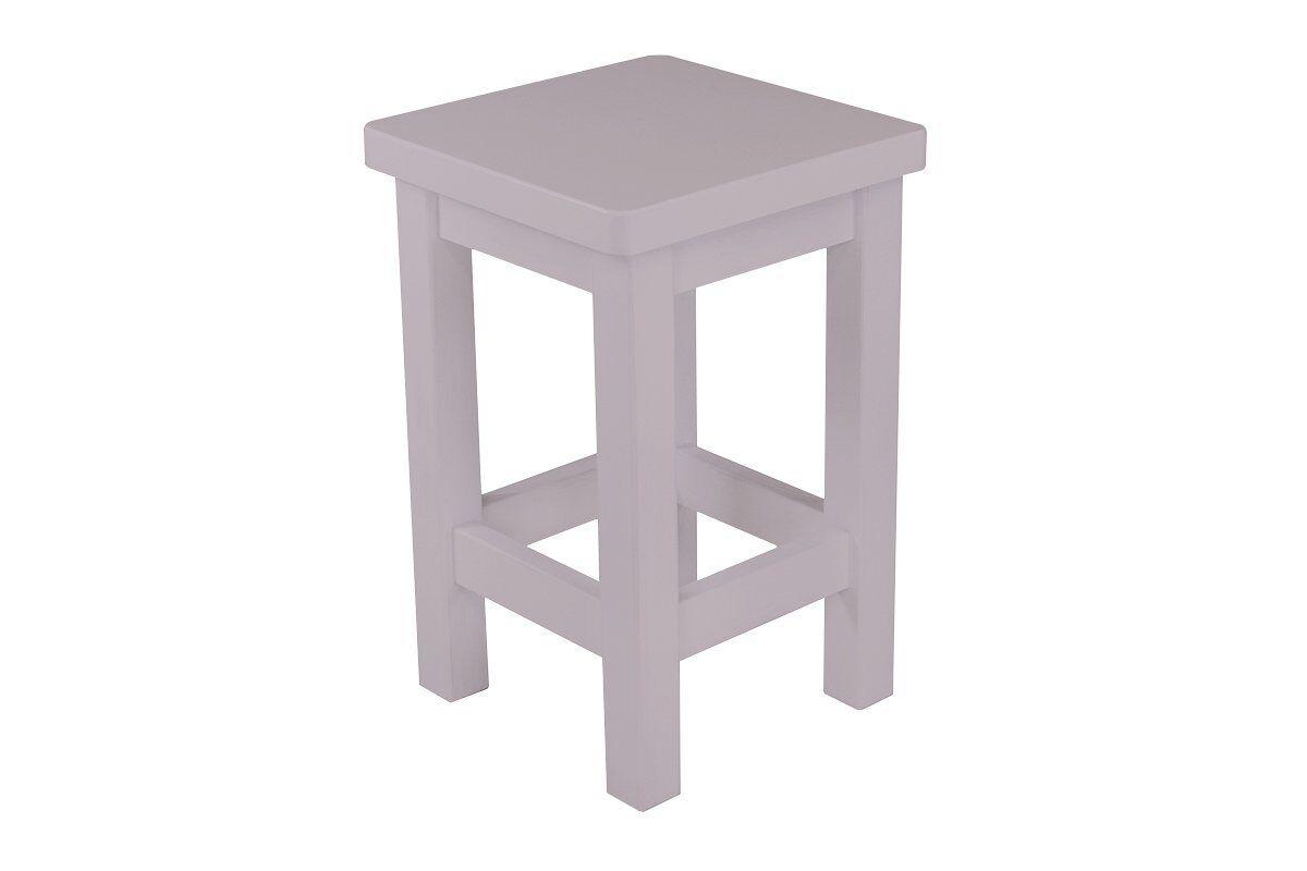 Abc meubles - tabouret droit bois made in france violet pastel