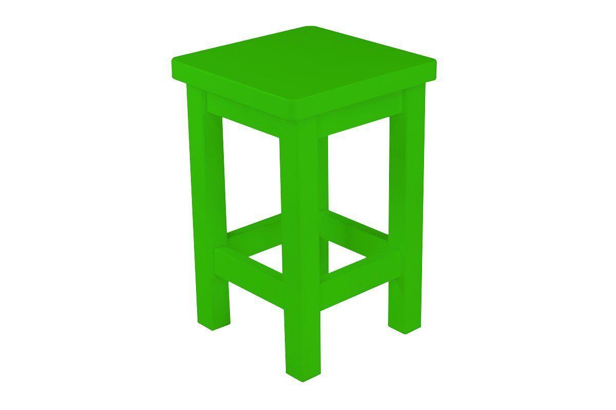Abc meubles - tabouret droit bois made in france vert