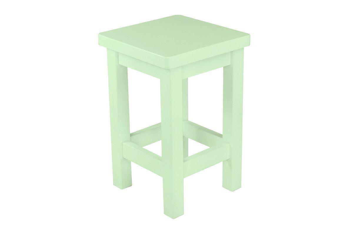 Abc meubles - tabouret droit bois made in france vert pastel