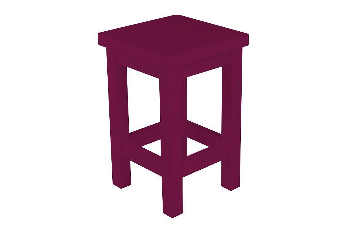 Abc meubles - tabouret droit bois made in france prune