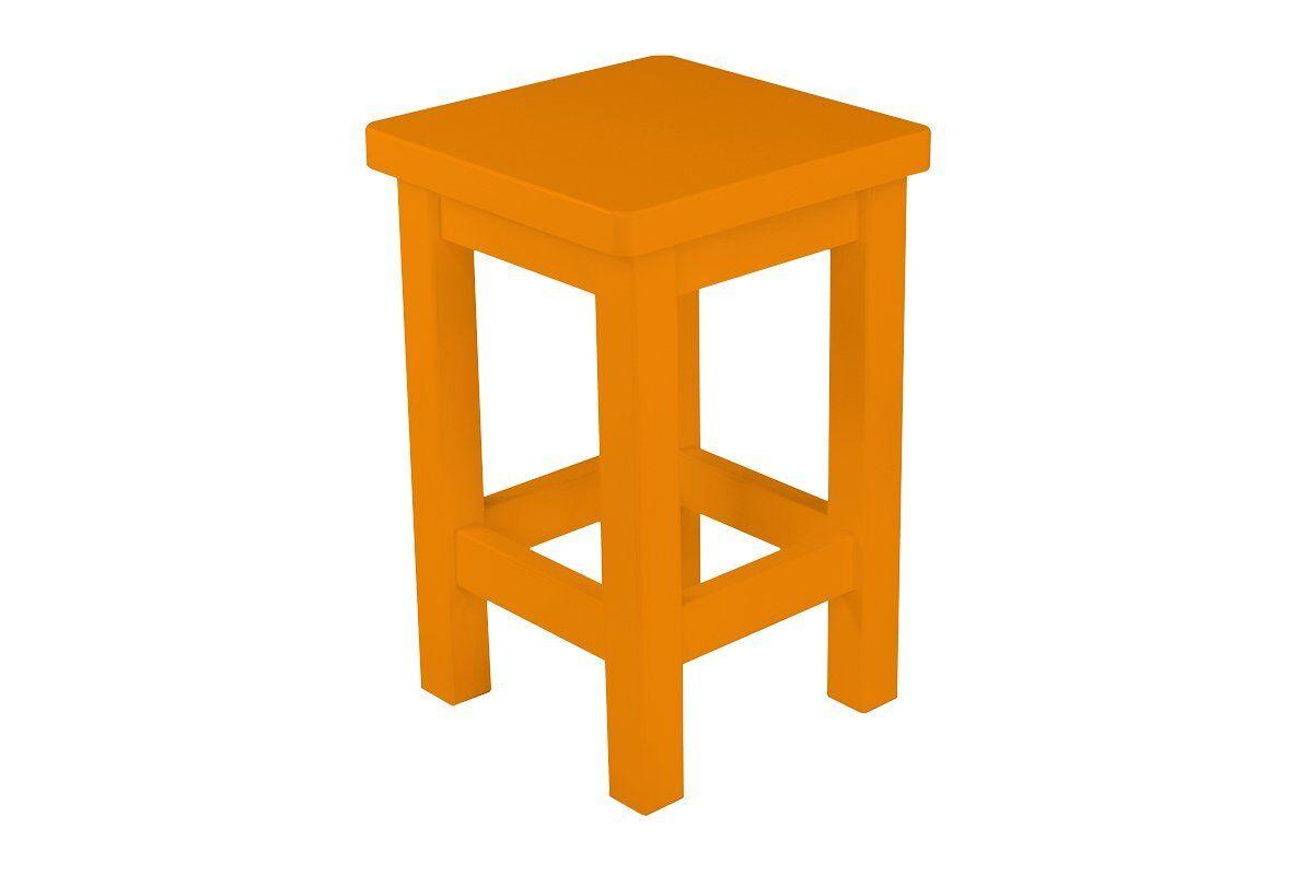 Abc meubles - tabouret droit bois made in france orange