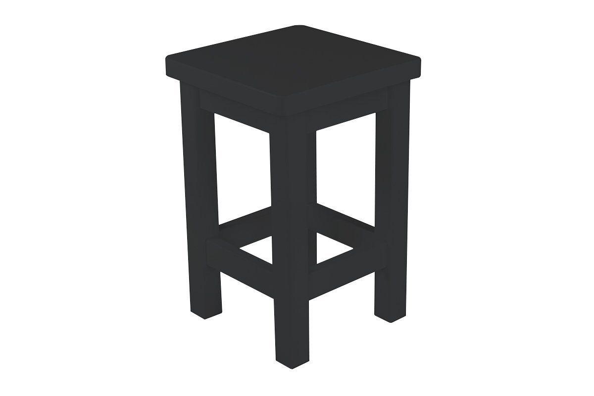 Abc meubles - tabouret droit bois made in france noir