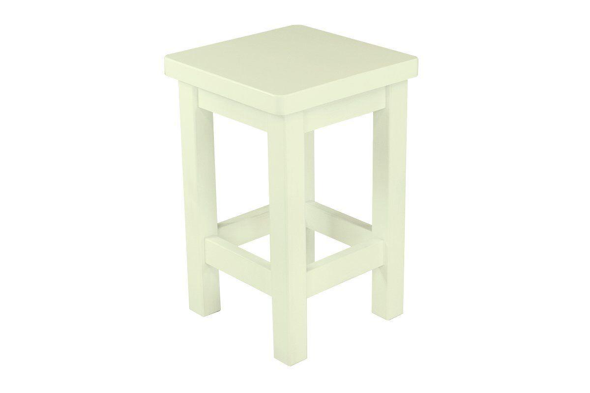Abc meubles - tabouret droit bois made in france ivoire
