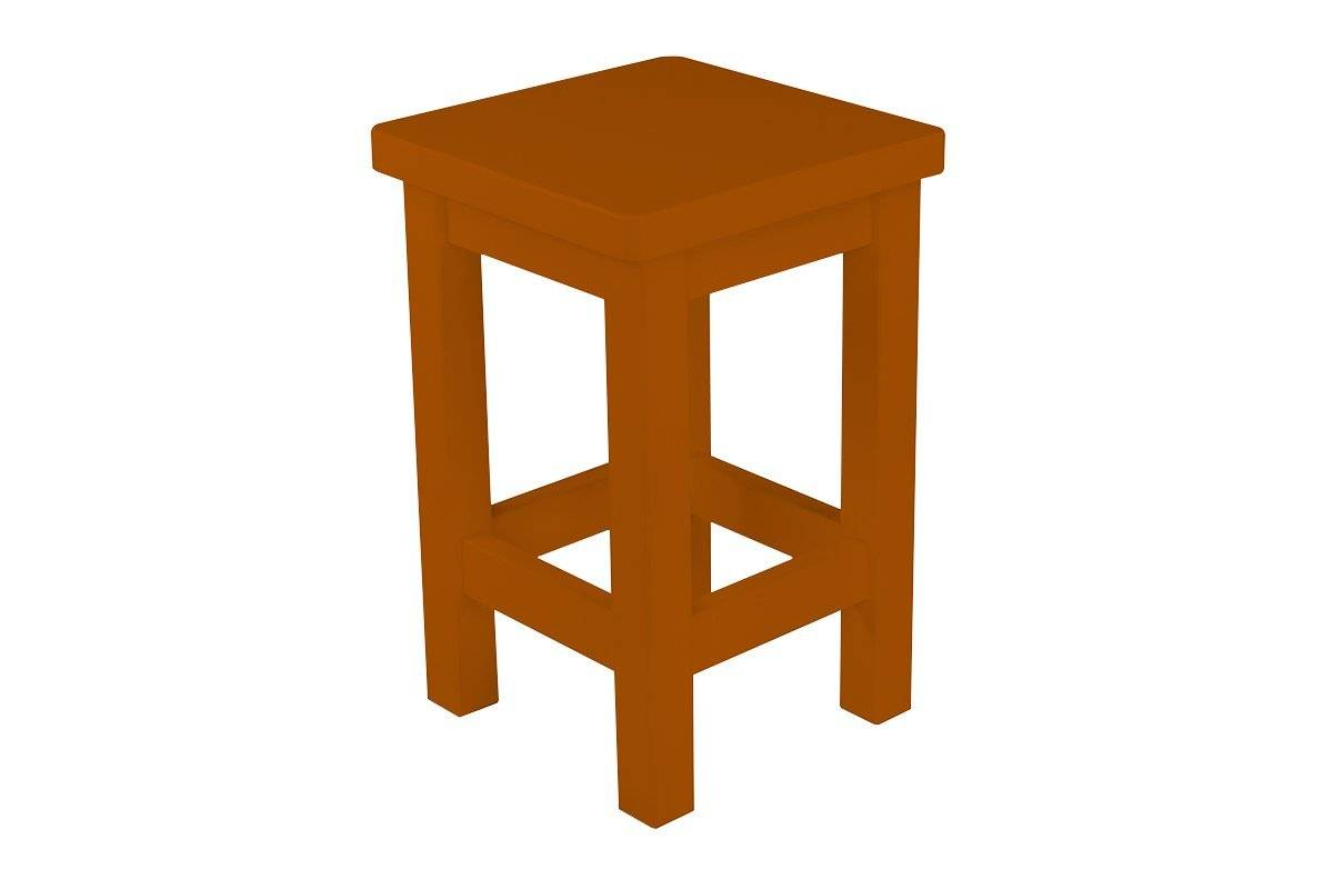 Abc meubles - tabouret droit bois made in france chocolat