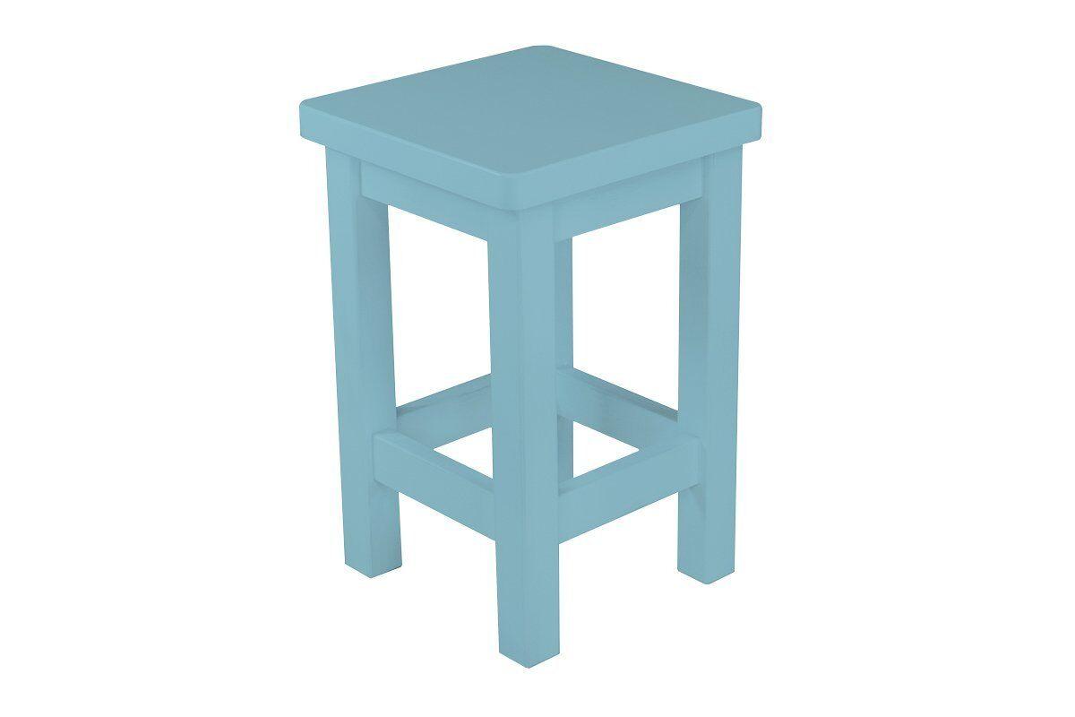 Abc meubles - tabouret droit bois made in france bleu pastel