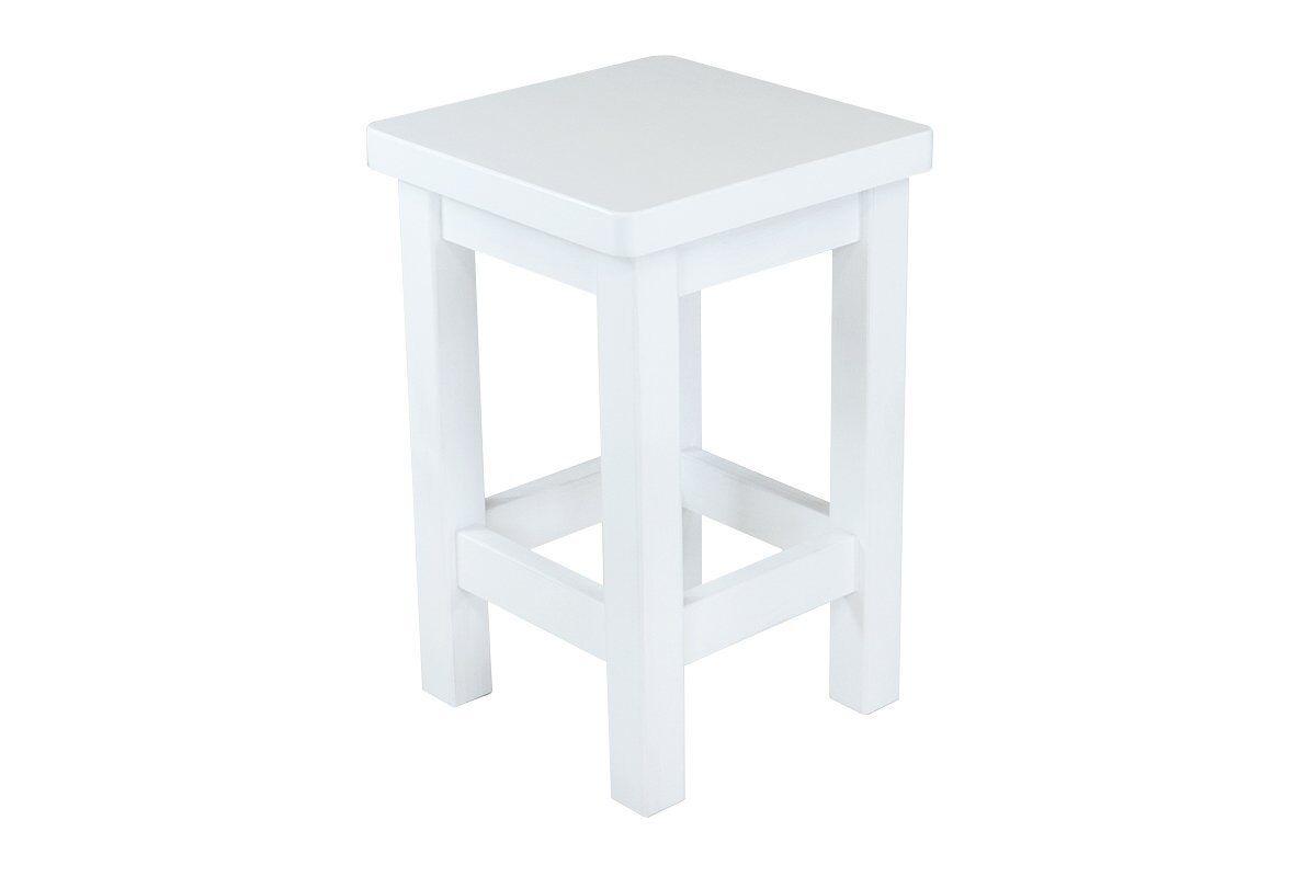 Abc meubles - tabouret droit bois made in france blanc