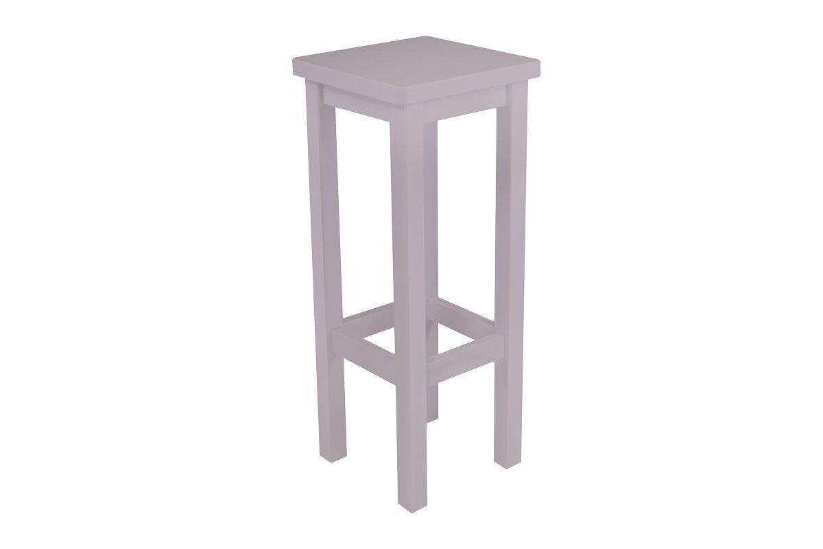 Abc meubles - tabouret de bar droit bois made in france violet pastel