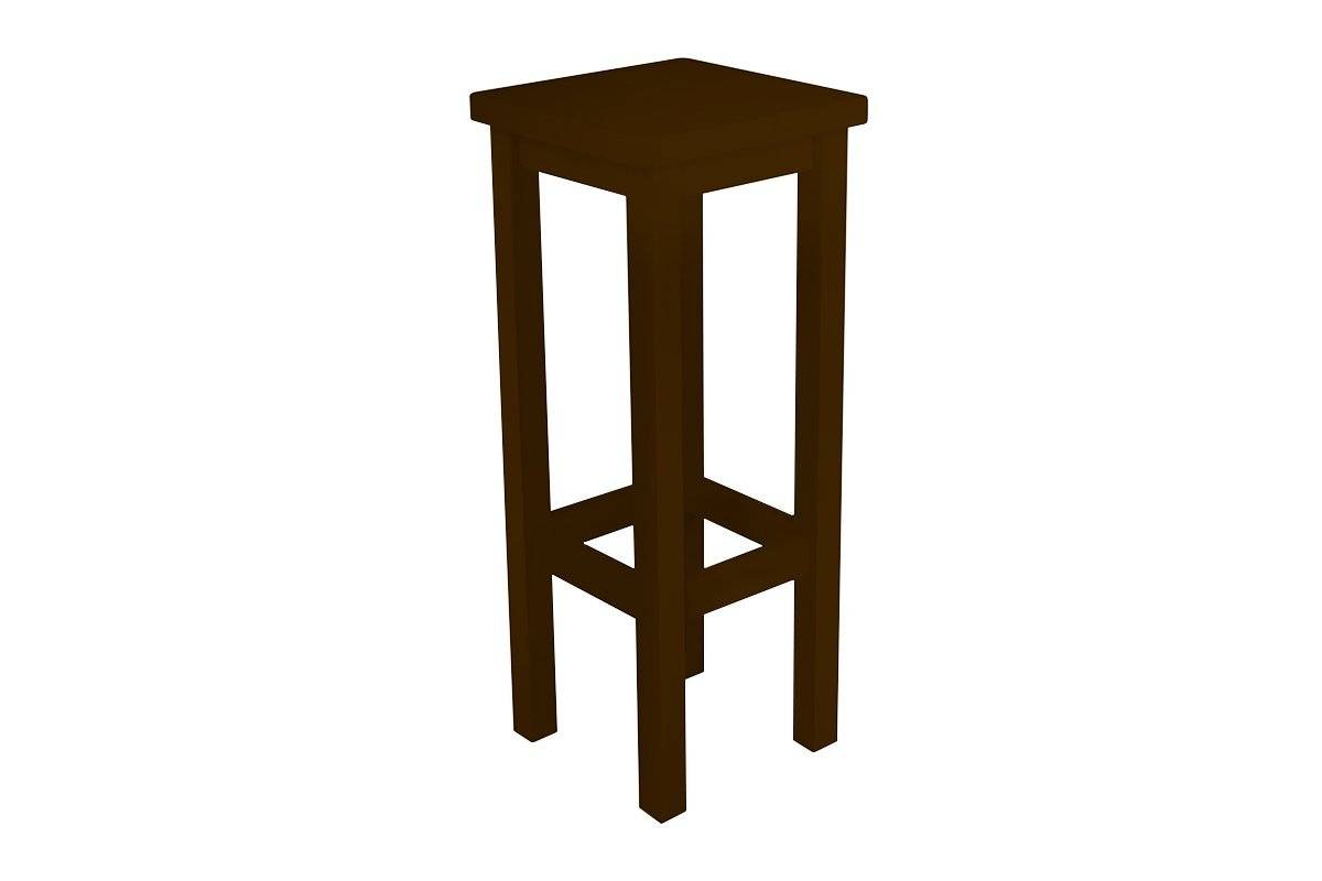 Abc meubles - tabouret de bar droit bois made in france wengé