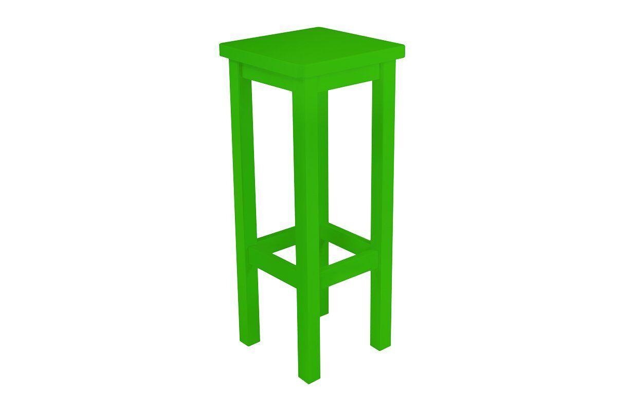 Abc meubles - tabouret de bar droit bois made in france vert