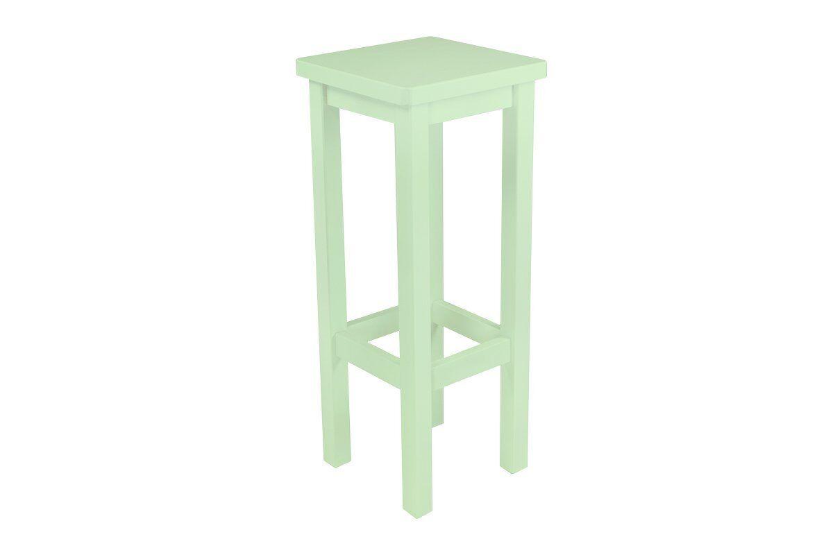 Abc meubles - tabouret de bar droit bois made in france vert pastel