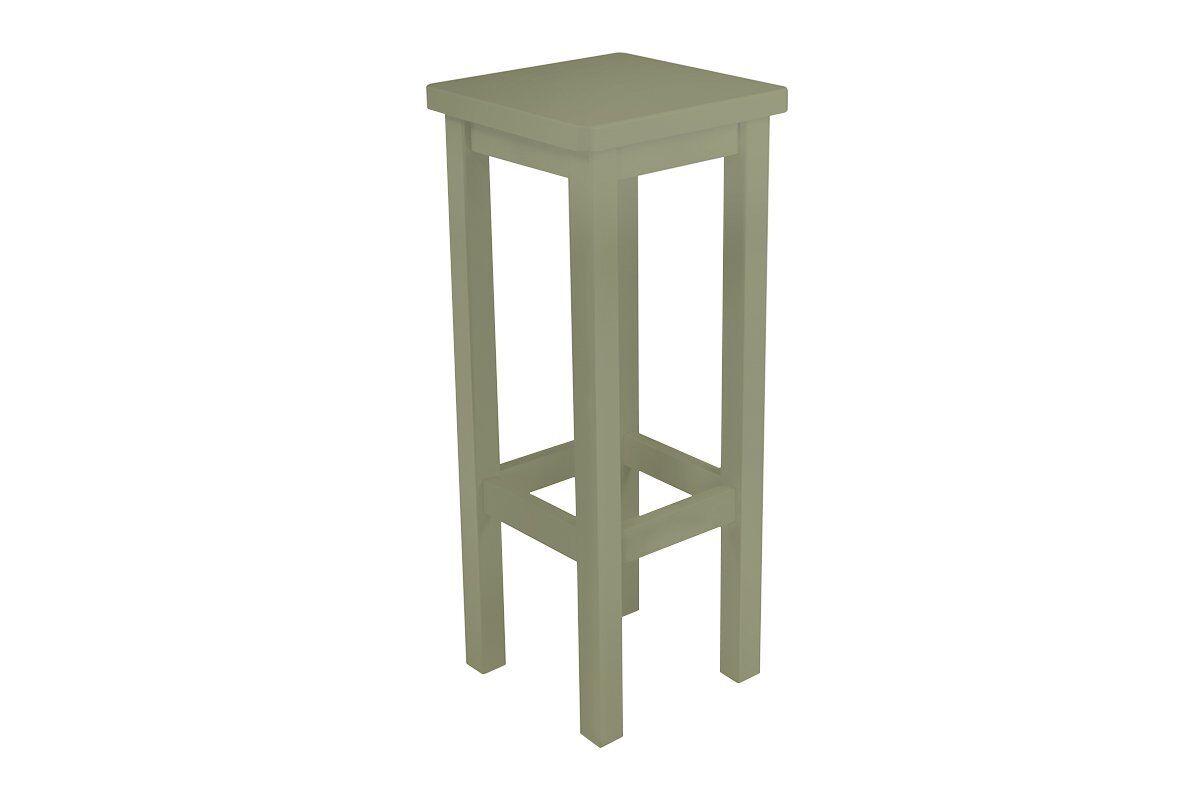 Abc meubles - tabouret de bar droit bois made in france taupe