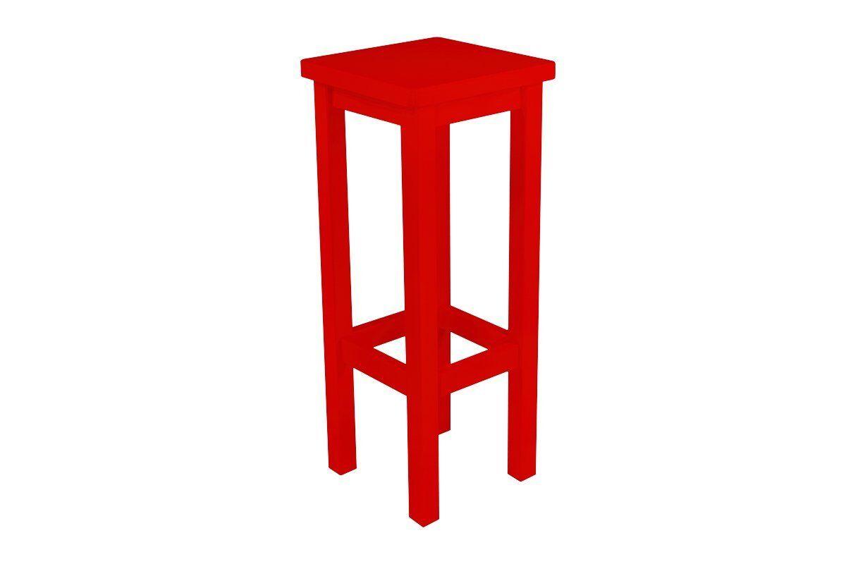 Abc meubles - tabouret de bar droit bois made in france rouge