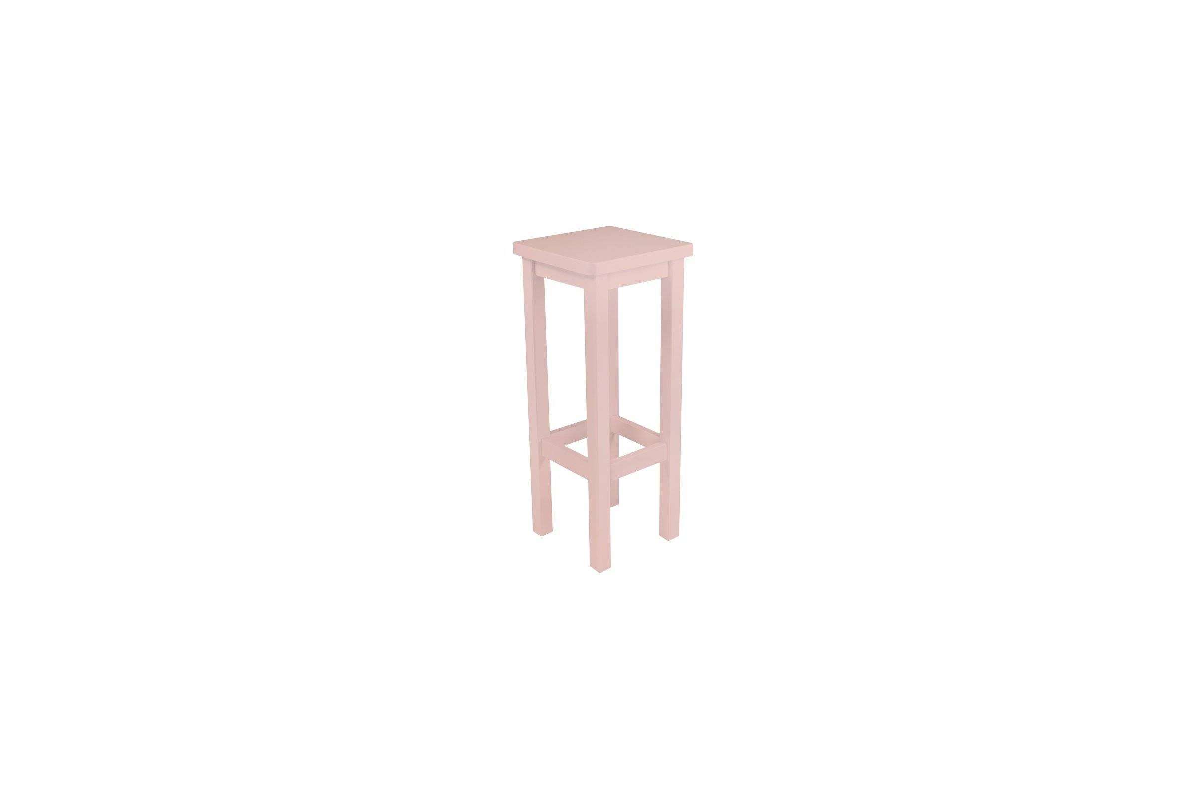 Abc meubles - tabouret de bar droit bois made in france rose pastel