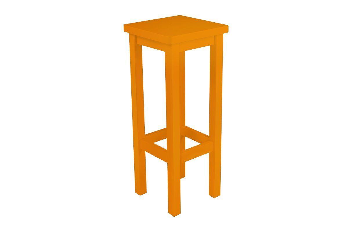 Abc meubles - tabouret de bar droit bois made in france orange