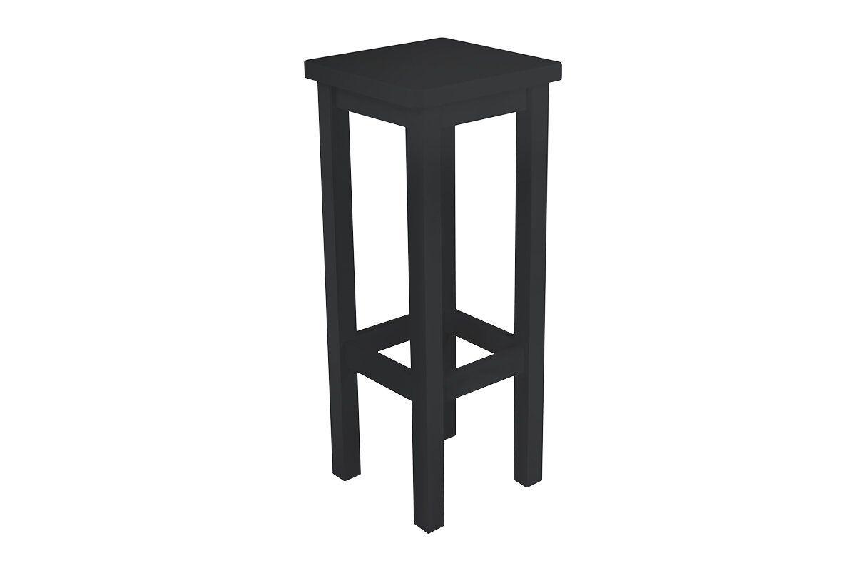 Abc meubles - tabouret de bar droit bois made in france noir